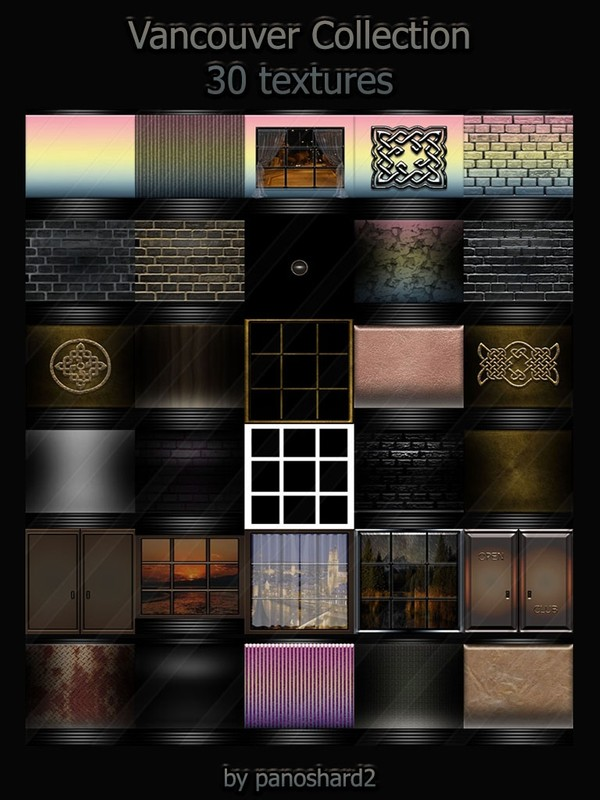Vancouver Collection 30 textures  for imvu rooms
