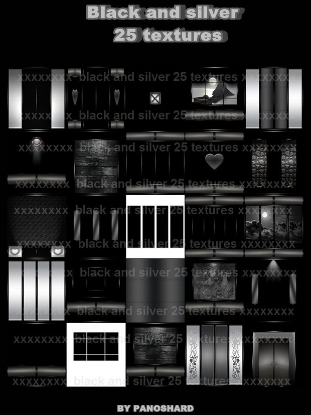 Black and silver 25 textures