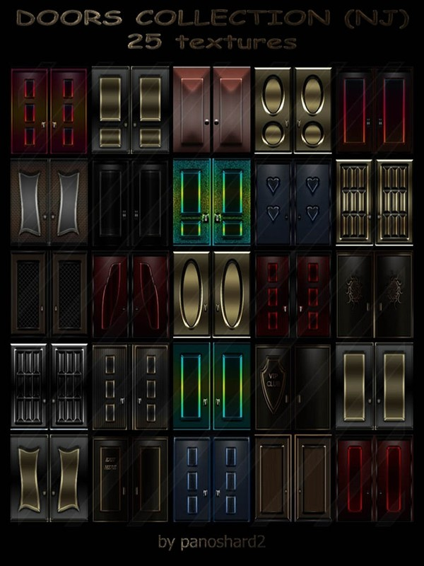 DOORS COLLECTION (NJ) 25 TEXTURES FOR IMVU ROOMS
