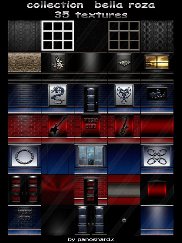 Collection  bella roza 35 textures for imvu creator rooms (will be sold to ten creators)