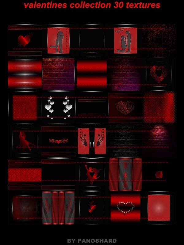 valentines collection 30 textures