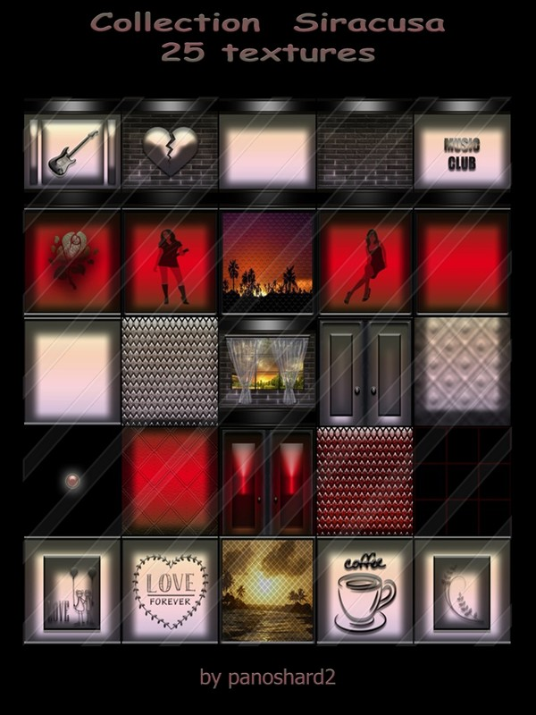 Collection  Siracusa 25 textures for imvu creator rooms ( will be sold to ten creator)
