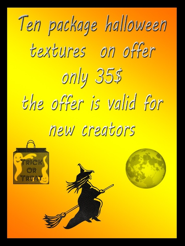 TEN PACKAGE TEXTURES HALLOWEEN FOR IMVU ON OFFER