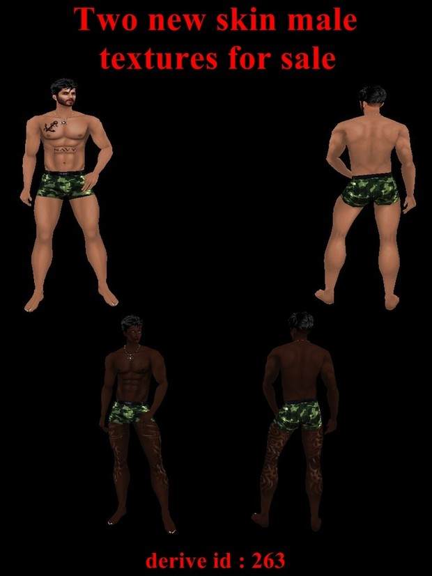 Two new skin  male textures for sale