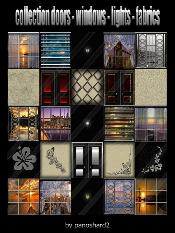 collection doors -windows - lights - fabrics 25 textures