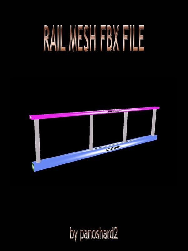 Rail mesh file fbx