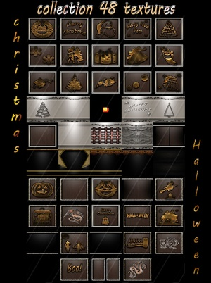 Collection christmas and halloween 48 textures for imvu