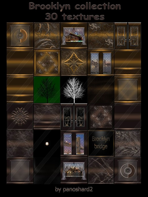 Brooklyn collection 30 textures for imvu rooms