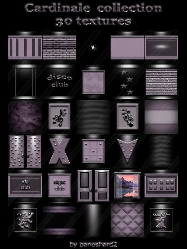 Cardinale collection 30 textures for imvu creator rooms  (will be sold to ten creators)