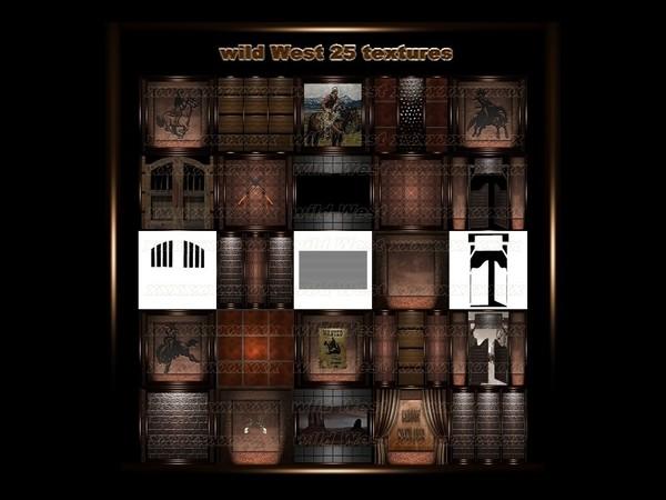 wild West 25 textures FOR IMVU CREATOR ROOMS