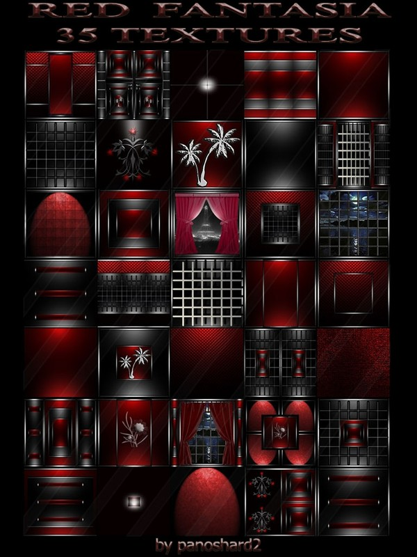 RED FANTASIA 35 TEXTURES FOR IMVU ROOMS