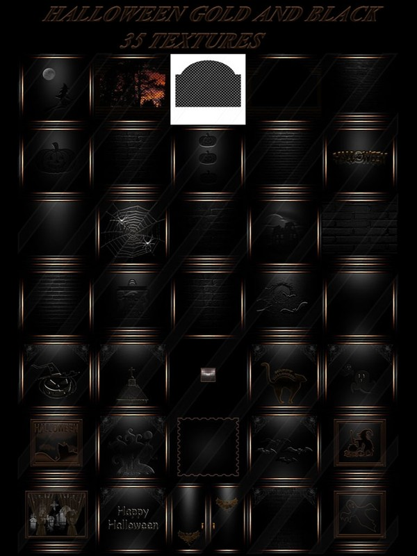 HALLOWEEN GOLD AND BLACK  35 TEXTURES FOR IMVU ROOMS