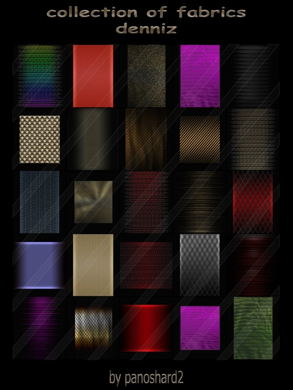 collection of fabrics deniz 25 textures (will be sold to ten creator)