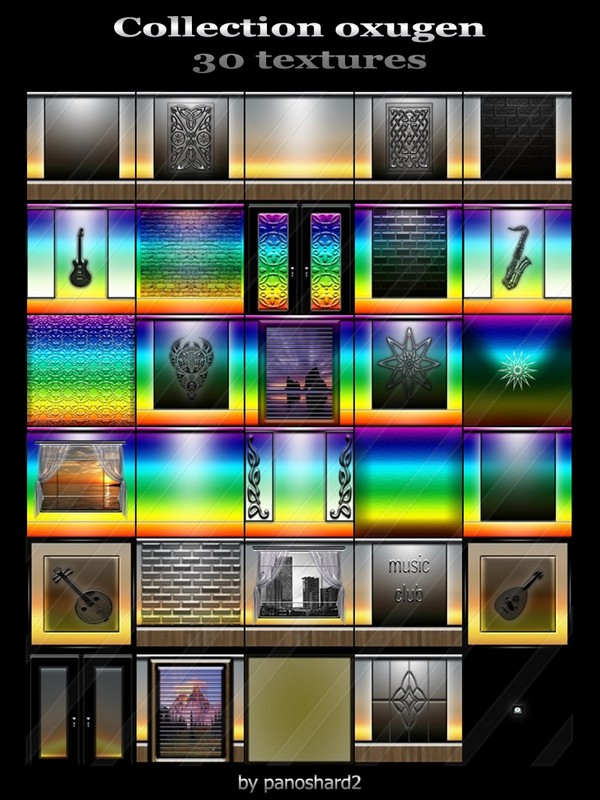 Collection oxugen  30 textures for imvu creator rooms  (will be sold to ten creators)