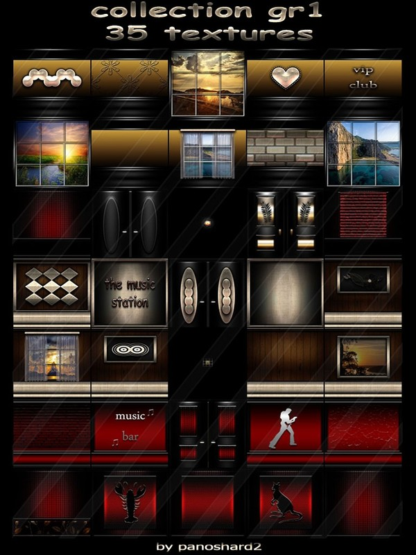 Collection gr1 35 textures for imvu creator rooms (will be sold to ten creators)