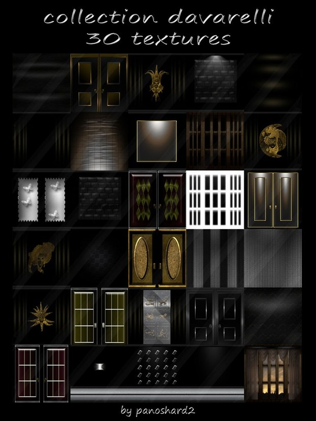 collection davarelli 30 textures for imvu