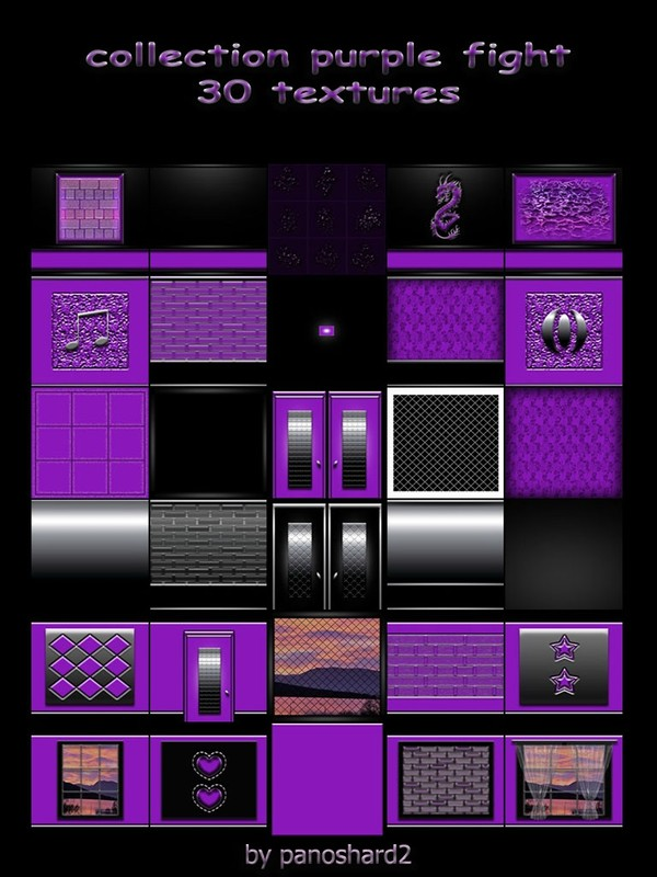 Collection purple fight 30 textures for imvu rooms  ( will be sold to ten creator)