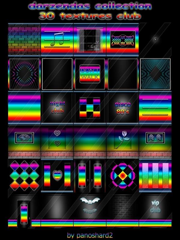 darzendas collection 30 textures for imvu creator club (will be sold to ten creators)