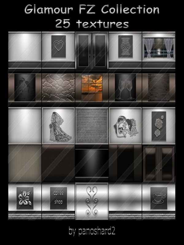 Glamour FZ Collection 25 textures for rooms
