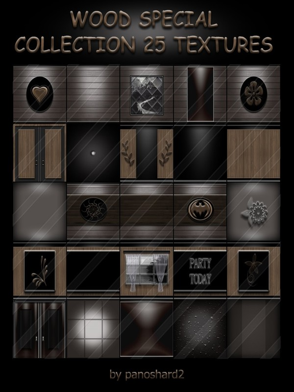 WOOD SPECIAL COLLECTION 25 TEXTURES FOR ROOMS