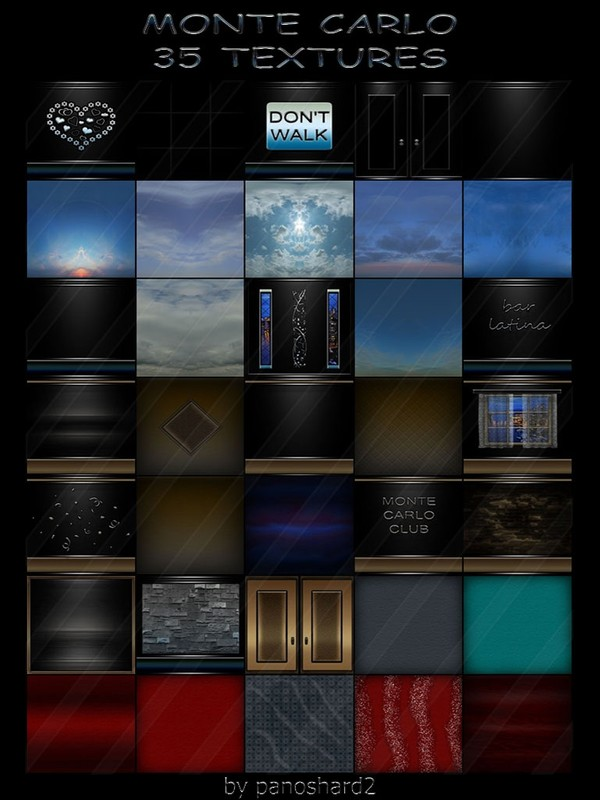MONTE CARLO COLLECTION 35 TEXTURES FOR IMVU ROOMS