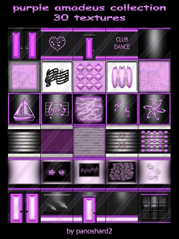 purple amadeus collection 30 textures