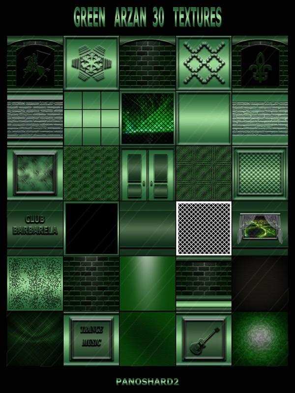 GREEN ARZAN 30 TEXTURES  FOR IMVU CREATOR ROOMS (will be sold to ten creators)