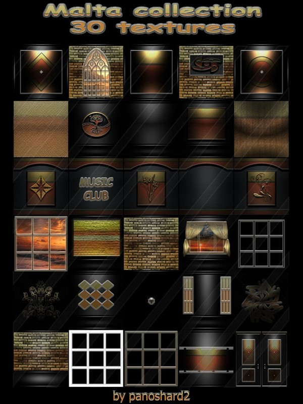 Malta collection 30 textures  for imvu creators rooms  (will be sold to ten creators)