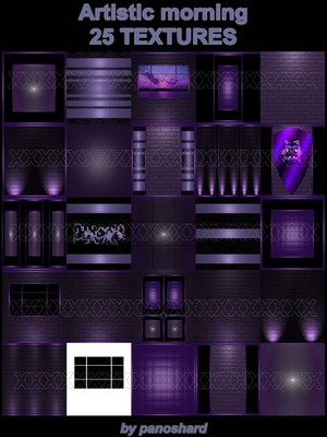 ARTISTIC MORNING 25 TEXTURES IMVU ROOM