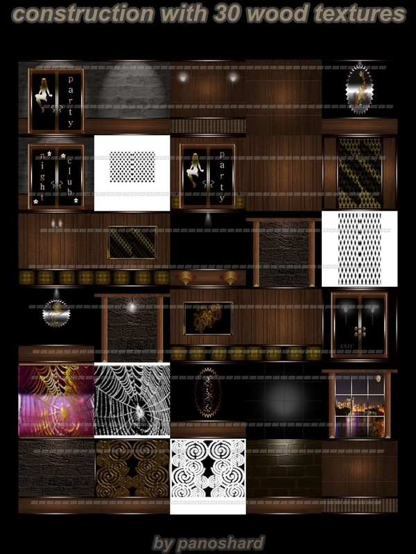 construction with 30 wood textures imvu room
