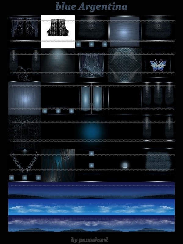 BLUE ARGENTINA 25 TEXTURES  FOR  IMVU ROOMS