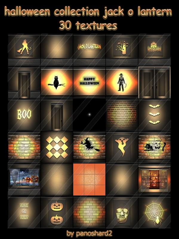 Halloween collection jack o lantern 30 textures for imvu rooms