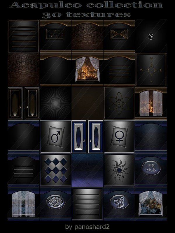 Acapulco collection 30 textures  for imvu rooms
