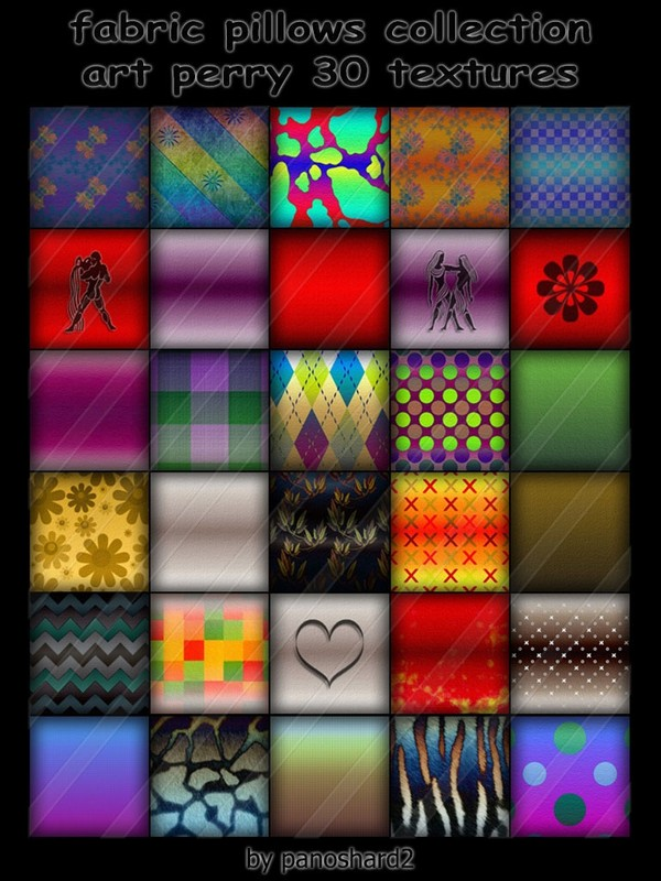 fabric pillows collection art perry 30 textures for imvu