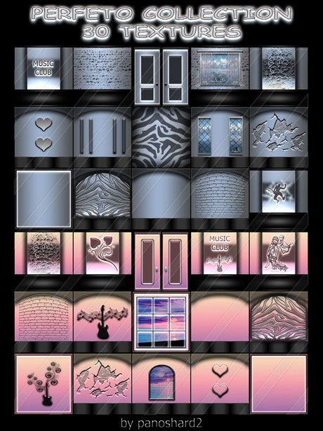 PERFETO COLLECTION 30 TEXTURES FOR IMVU CREATOR ROOMS ( will be sold to ten creator)