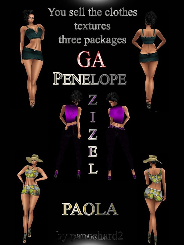 PENELOPE -- ZIZEL -- PAOLA THREE PACK DRESS