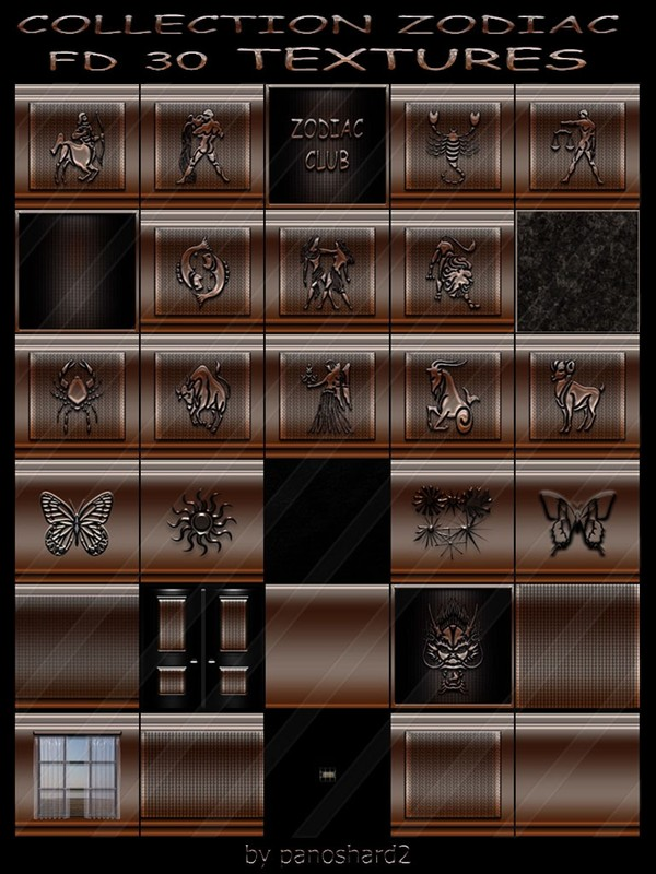 COLLECTION ZODIAC FD 30 TEXTURES  FOR CREATOR IMVU ROOMS  (will be sold to Ten creators)
