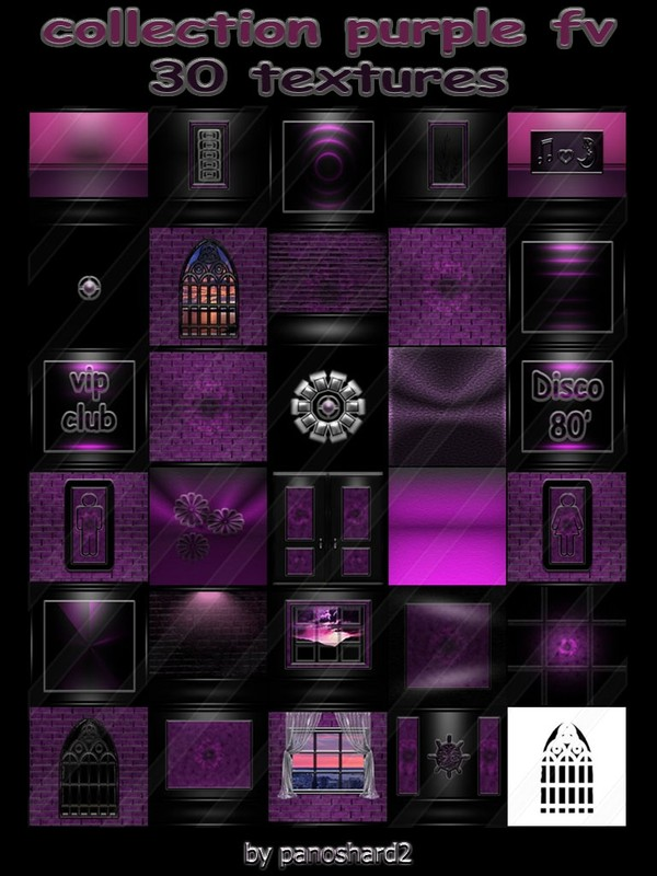 Collection purple fv 30 textures for imvu creator rooms (will be sold to ten creators)