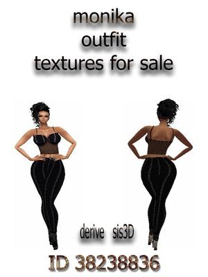 Monika outfit   textures for imvu