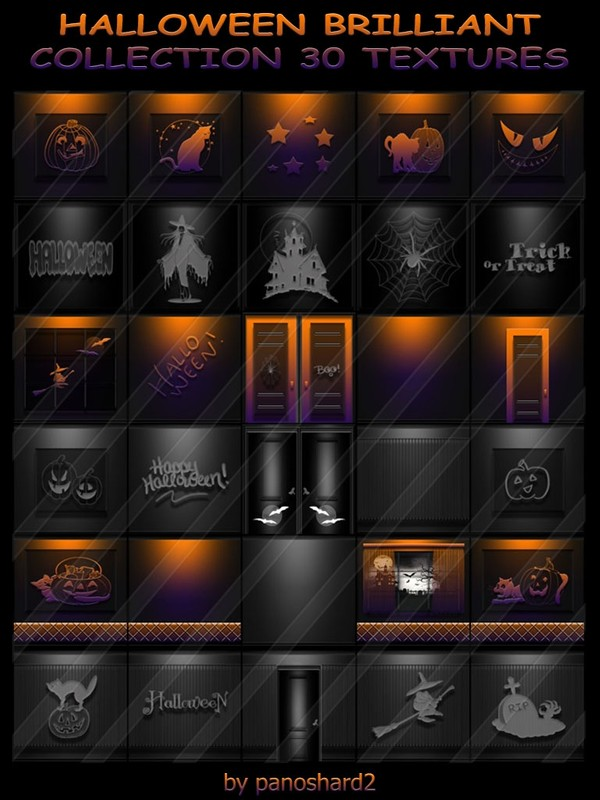 HALLOWEEN BRILLIANT COLLECTION 30 TEXTURES FOR IMVU ROOMS