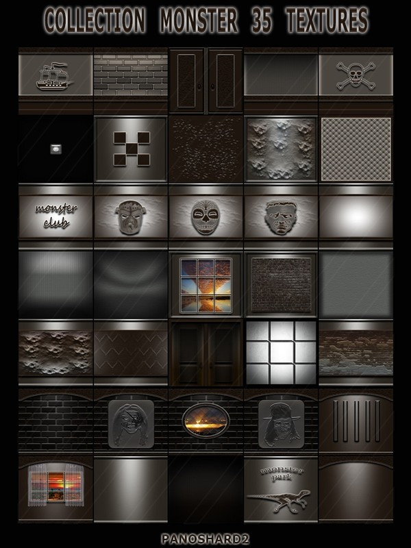 COLLECTION MONSTER 35 TEXTURES FOR IMVU CREATOR ROOMS (will be sold to ten creators)