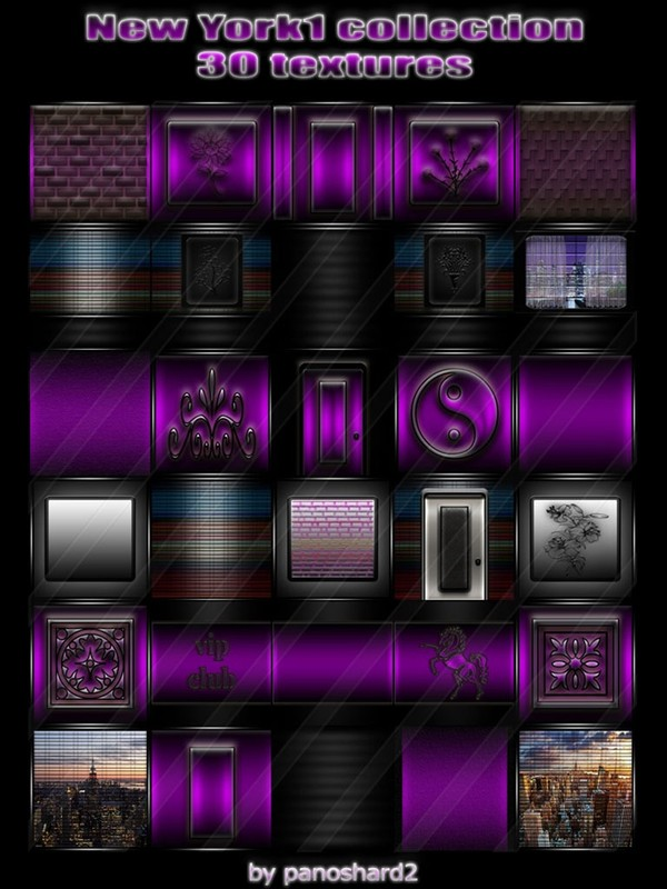 New York1 collection 30 textures for imvu creator rooms  (will be sold to ten creators)