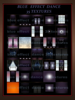 Blue effect dance 35 textures room