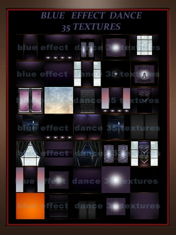Blue effect dance 35 textures   imvu rooms