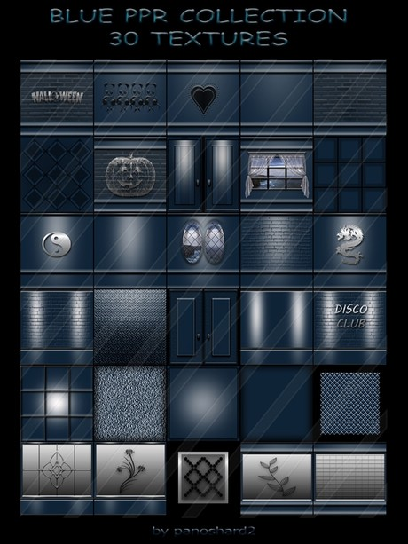 BLUE PPR COLLECTION 30 TEXTURES FOR IMVU CREATOR ROOMS (will be sold to ten creators)