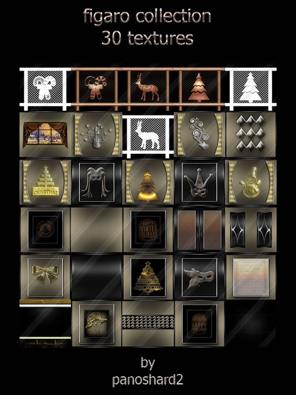 Figaro collection 30 textures for imvu room