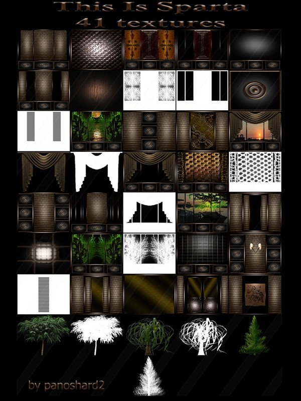 This Is Sparta 41 textures  for  imvu rooms