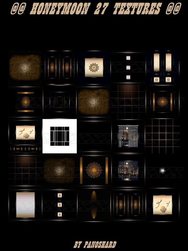 HONEYMOON  27 TEXTURES FOR IMVU CREATOR ROOMS