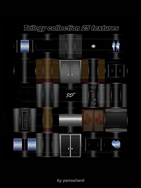Trilogy collection 25 textures FOR IMVU CREATOR ROOMS