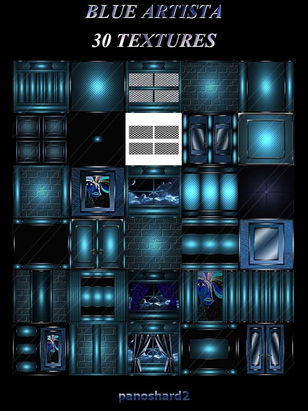 BLUE ARTISTA 30 TEXTURES FOR IMVU CREATOR ROOMS